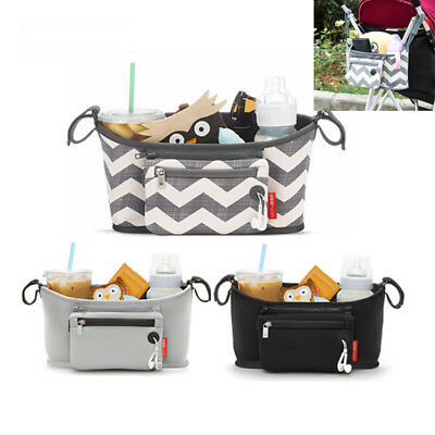 Baby Pushchair Pram Organiser Stroller Buggy Storage Bag Bottle Holder CO