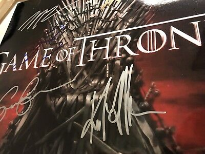 Affiche Photo Poster - Autographes Game Of Thrones Clarke Harrington Dinklage