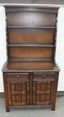 1960's Neat and Simple Priory Oak Dresser with Plate Rack