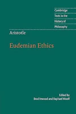 Aristotle: Eudemian Ethics by Brad Inwood (English) Paperback Book Free Shipping