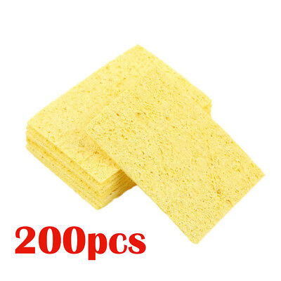 200pcs High Temperature Resistant Soldering Iron Solder Tip Cleaning Sponge