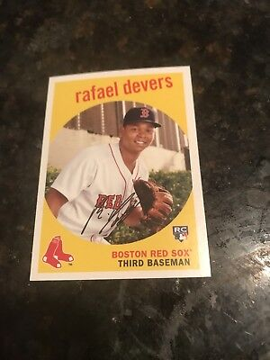 Rafael Devers 2018 Topps Archives Rookie Card Boston Red Sox