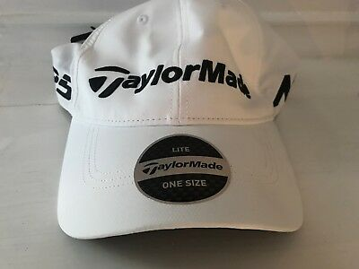 New TaylorMade M1/TP5 Tour Radar Hat Adjustable Mens Golf Hat White Lite Tech