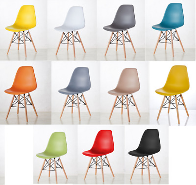 Millhouse Eiffel Chairs Retro Chairs Solid Wood Legs Dining Office Kitchen
