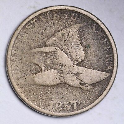 1857 Flying Eagle Small Cent CHOICE VG FREE SHIPPING E111 KCN