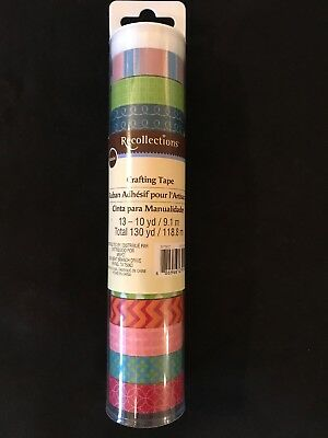 13 Recollections Crafting Washi Tapes NEW Chevron~4pt Flowers~CUTEST SET OF ALL!