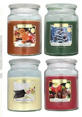 Wickford & Co Large Festive Scented Jar Candles 18oz/510g. Halloween & Christmas