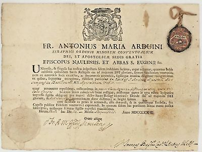 Rare 1700s relic of SAINT ANDREW the APOSTLE with Certificate