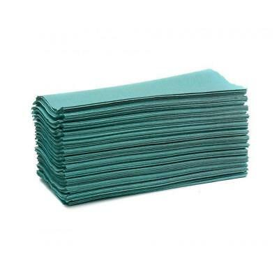Maxima Hand Towels C-Fold 1-Ply Green 144 Sheets Per Sleeve [20 Sleeves]