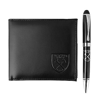 West Ham United FC Official Football Gift Boxed Leather Money Wallet & Pen