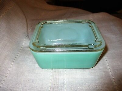 Vintage Sears Maid Of Honor Ovenware Mint Green Refrigerator Dish w/Lid