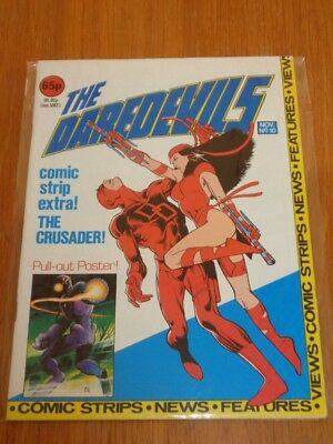 Daredevils #10 Marvel British Monthly November 1983 With Poster Gift (B)^