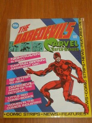 Daredevils #6 Marvel British Monthly June 1983 With Poster Gift (A)^