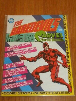 Daredevils #6 Marvel British Monthly June 1983 With Poster Gift (B)^