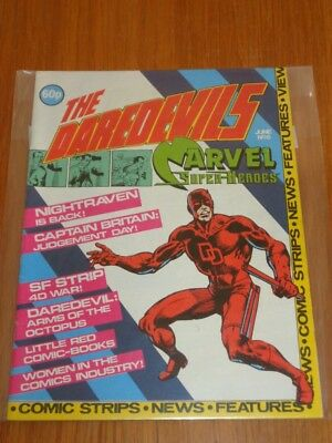 Daredevils #6 Marvel British Monthly June 1983 With Poster Gift (D)^