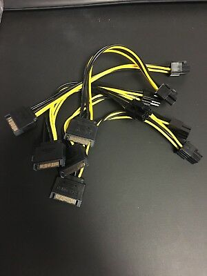 Brand New Bundle Internal Sata Hard Drive Power Cables 4 Pin 6 Pin