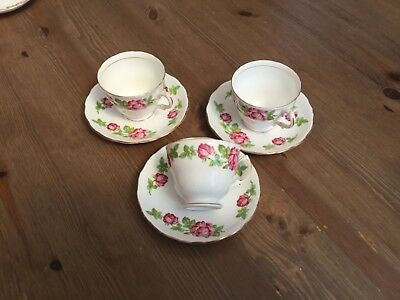 Royal Vale 3 Cups 3 Saucers