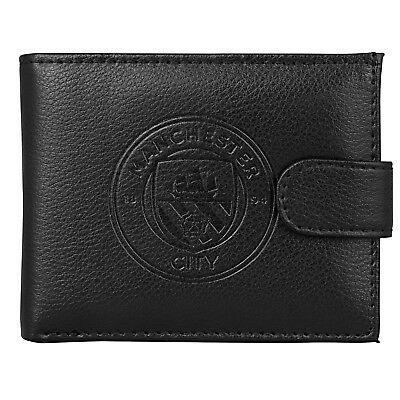 Manchester City FC Official Football Gift Boxed Leather Wallet Embossed Crest