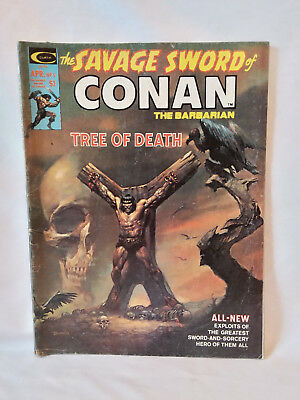 Curtis Marvel Comics Group magazine 1975, The Savage Sword of Conan #5, GD