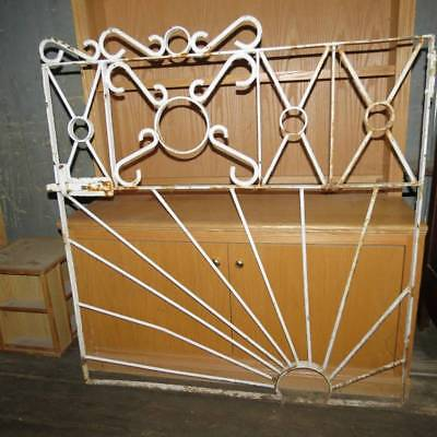 Antique Primitive Iron Garden Gate with Sunburst Design