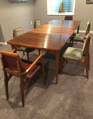 Mid Century Teak Dining Table And 6 Chairs 1 475 00 Picclick