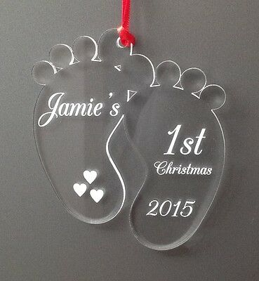 Personalised Baby's First 1st Christmas tree decoration gift
