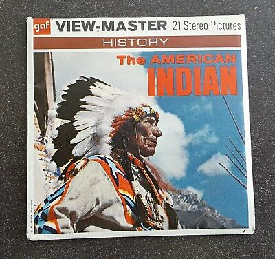 The American Indian Vintage View-Master Reel Pack B725 G3