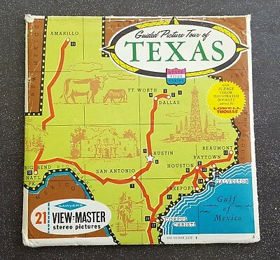 Texas State Tour Series Vintage View-Master Reel Pack A410 S6