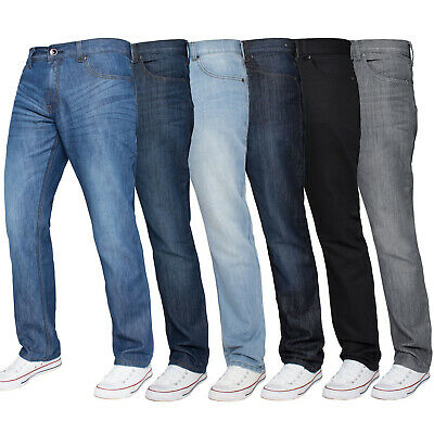Kruze Mens Jeans Regular Fit Straight Leg Denim Pants All Waist Big Tall Sizes
