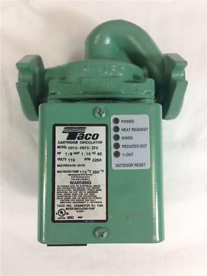 NEW! Taco 0010-VRF3-IFC Cartridge Circulator 1/8 HP, 1.10 AMP, 60 HZ, 115V