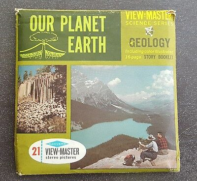 OUR PLANET EARTH Science Series Geology Vintage View-Master Reel Pack B675 S6