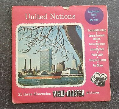 United Nations Vintage Sawyers View-Master Reel Pack