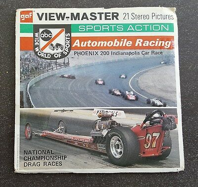 Automobile Racing ABC Wide World of Sports Rare View-Master Reel Pack B948 G2