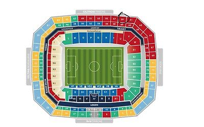 Schalke 04 -Galatasaray 2 TICKETS Block 59 Nebeneinander Gazprom Tribüne TOP