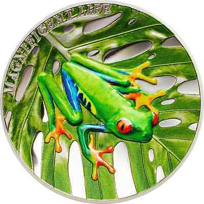Tree Frog – Magnificent Life – 2018 $5.00 1 Oz Pure Silver Coin – Cook Islands