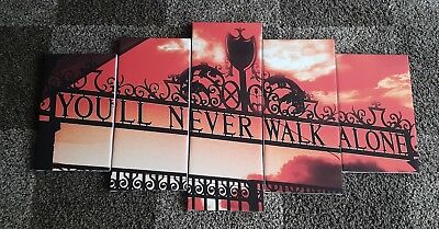 liverpool F.C. you'll  never  walk alone canvas wall art Red sky