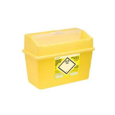 Click Medical Sharps Bin Temporary & Final Closure Feature 24L Yellow Ref CM0648