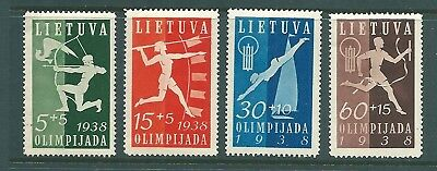LITHUANIA 1938 Olympiad Fund mint set