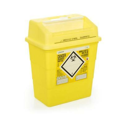 Click Medical Sharps Bin Temporary & Final Closure Feature 13L Yellow Ref CM0647