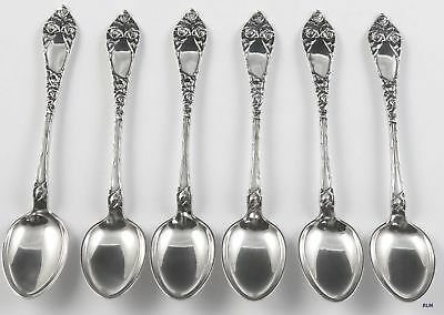 1900-1925 Antique/Vintage Norwegian 830 Silver Rose Demitasse Spoons (6)