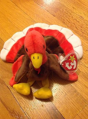 fa99761d487 RETIRED RARE GOBBLES Turkey 1996 Ty Beanie Baby DOB 11-27-96  4034 ...