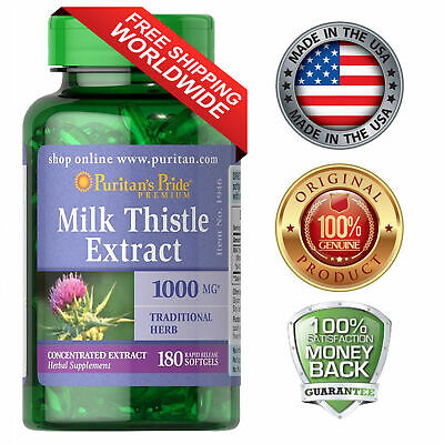Puritan's Milk Thistle 4:1 Extract 1000mg 180 Softgels Liver Support