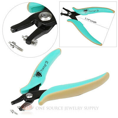 Vintaj 1.5mm Hole Punch Pliers Leather Blanks Jewelry Making Design Crafts