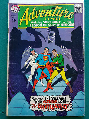 Adventure Comics #361 (Oct 1967, DC) VG+ The Unkillables Superboy FREE SHIPPING