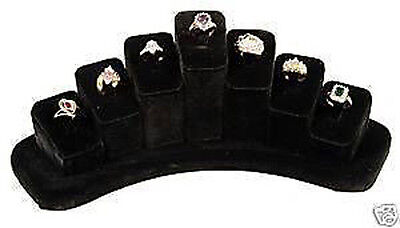 Ring Jewelry Display Black Velvet Sturdy Showcase Countertop Presentation Stand