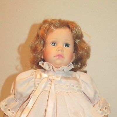 "Vintage 18"" 1970's Madame Alexander Darlene in Pretty Pink Eyelet Dress cries."
