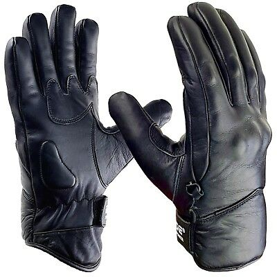 Blade® Leather Best Waterproof Thermal Warm Winter Motorcycle Motorbike Gloves