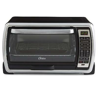 Oster Large Capacity Countertop 6 Slice Digital Convection Toaster Oven Black