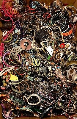 20 LBS Huge VTG -Now LOT Junk Drawer Jewelry UNSEARCHED Repurpose Craft Scrap #4
