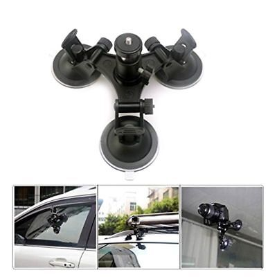 Low Angle Triple Suction Cup Mount Sucker Holder for Gopro Hero 2 3 3+ 4 Camera